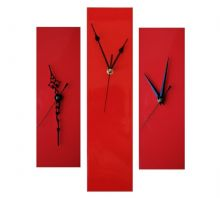 Contemporary Slim Wall Clock RED 30cm or 40cm